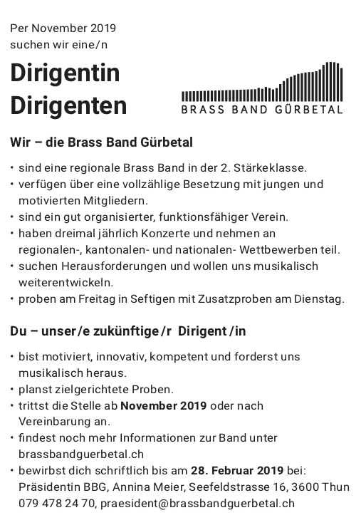 Brass Band Gürbetal